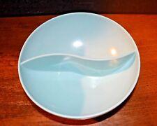 VTG MELMAC Split Serving Bowl Retro Blue  Table to Terrace Dinnerware