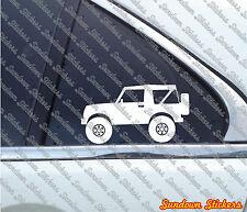 2X Lifted offroad truck stickers - for Suzuki Samurai SJ410 convertible4x4