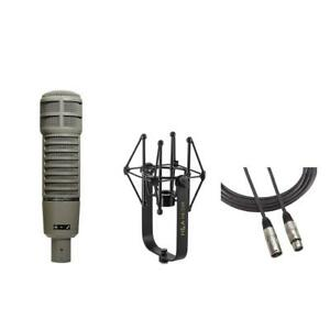 Electro-Voice RE20 Microphone, Broadcast Arm, ShokMount, 15' XLR Cable