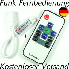 MINI Funk LED Controller Dimmer Fernbedienung LED Leiste Streifen Strip RGB 10mm