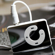 Mirror Mini Clip White USB Digital Mp3 Music Player Support 1-16GB SD TF Cards