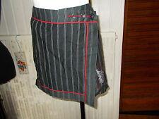 SUR Jupe courte viscose/lin noir raye COP COPINE TOROS 40