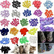 140pcs Pet Cat Kitty Soft Claws Caps Control Soft Paws of 4 Glitter Colors, Xs