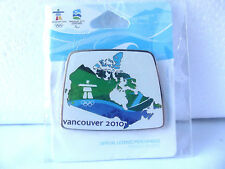 VANCOUVER 2010 Olympic CANADA Pin Canada Map Lapel