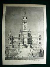 Roma nel 1884 - Il concorso per il Monumento a Vittorio Emanuele, progetto Boffi