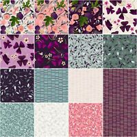 "Clothworks, Amethyst Garden, 5"" Charm Pack, Fabric Quilting Squares, SQ54"