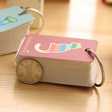 Cute Cartoon Spiral Daily Memo Note Pad Notebook Book Diary Jotter New 2pcs