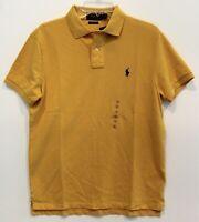 Polo Ralph Lauren Mens Gold Yellow Custom Fit Polo Shirt NWT Size L