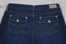Levi's 505 Size 10 Dark Wash Straight Leg Stretch Jeans Inseam 30