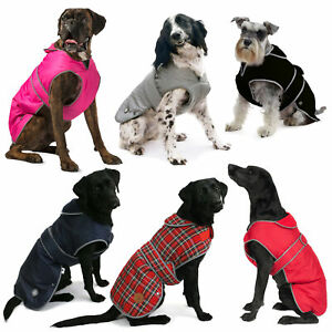 Ancol Muddy Paws Dog Coats Stormguard Fleece Quilted Waterproof Reflective HiVis
