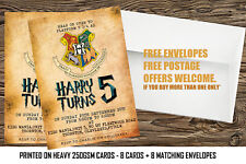 Personalised Harry Potter Birthday Party Invitations 8 Cards With Any Name Age