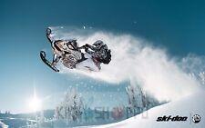 Poster A3 Neve / Sci Doo Motoslitta Sport del Inverno Sport Snow Cancello 01