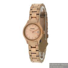 FOSSIL Uhr Archival Mini ES3167 Damen Armbanduhr mit Datum IP rotgold