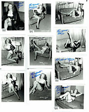 "10x Tempest Storm Signed Irving Klaw Original Photo From Negative 4""x5"" - TS22"