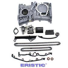 Fits 91-99 1.6L Nissan Sentra GA16DE Engine Timing Chain Oil Pump Kit W/O Gears