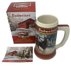 """NEW Budweiser Holiday Stein 40th Anniversary """"Winter Passage"""" Clydesdale 2019"""