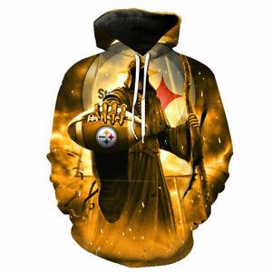 Pittsburgh Steelers Hoodie Men's Football Sweatshirt Fans Casual Pullover Jacket