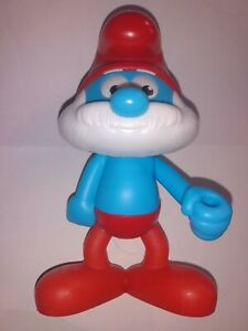 Papa Smurf Burger King Kids Meal Toy Smurfs The Lost Village Searching 5.5 inch