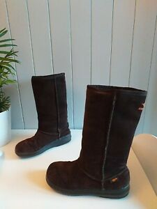 Rocket Dog Dark Brown Mid Calf Suede Boots Size 6