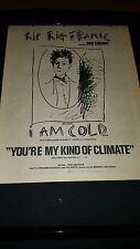 Rip Rig + Panic I Am Cold Rare Original U.K. Promo Poster Ad Framed!