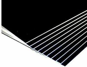 SRA1 Mount Board Black (Pack of 10) 1500micron GREY CORE 640 X 900MM
