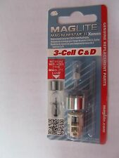 Maglite LMXA301 Magnum Star II Mag Xenon 3 Cell C or D Bulb   NEW