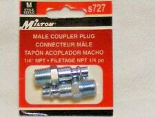 "1/4"" NPT MALE M STYLE AIR LINE COUPLER PLUG S727 MILTON"