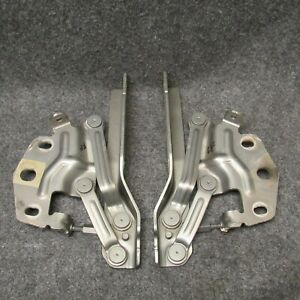 2006-2010 Passat Hood Hinges PAIR SET LH & RH LB6S Granite Green Metallic 55077