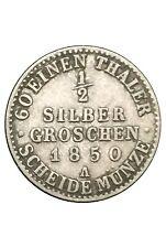 Preussen 1/2 Silbergroschen 1850A #140