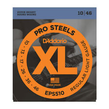 D'ADDARIO EPS510 ProSteels Corde Chitarra Elettrica, regolare luce 10-46