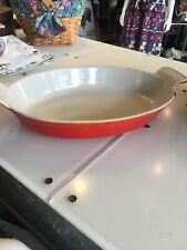 """Le Creuset Stoneware Oval Baking Dish Orange 11"""" / 28 cm."""