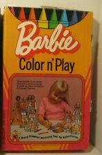 Vintage Barbie Color 'N Play Wipe-Off Paper Dolls, Set of 7 Colorforms 1974 Used
