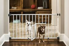 New listing Pet Dog Gate Puppy Cat Door Expandable Barrier Animal Fence Indoor Safety Lock