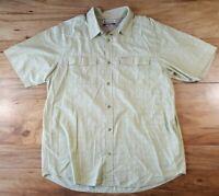 Columbia Men's Omni-shade Casual Short Sleeve Plaid Shirt Size XL button down