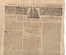Pennsylvania Packett Newspaper American Revolutionary War Continental Troops