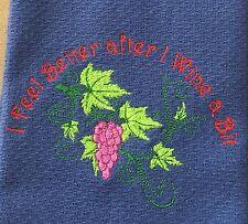 kitchen hand towel tea towel Embroidered Novelty Gift Idea
