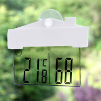 LCD Digital Window Thermometer Meter Indoor/Outdoor Home Temperature New