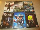 Lot Of 6 Pc Dvd-rom Computer Games 2 New Sim City Wildstar Company Of Heroes +