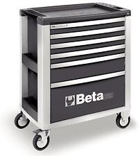 Beta Tools C39 G/6 Mobile Roller Cabinet Tool Box 6 Drawers Roll Cab Grey Rollca