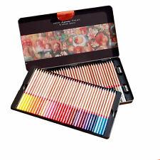 72 Color Wooden Pencil Marco Renoir Oil Base Artist Drawing Set Sketching Tin