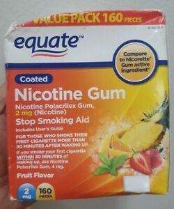Gum  Fruit Flavor 2mg 160 Pcs  Equate Pls see pics b4