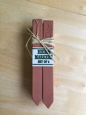 Set of 8 Terra Cotta Herb Markers Hand Made in the UK - NWT