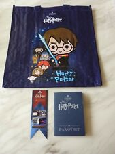 Harry Potter shopping bag, Illustrated Passport and bookmark Warner Bros London