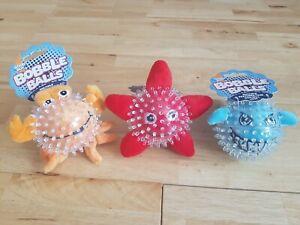 Good Boy - Starfish, Shark and Crab Bobble Balls - Puppy / Dog Toy