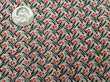 Best Vintage Feedsack Quilt Fabric 40s Red Black Tiny Berries Flour Full Sack