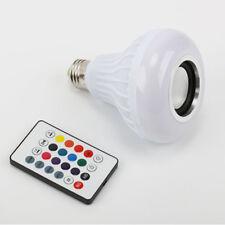 E27 Smart RGB Speaker LED Bulb Light Music Playing Remote Control Wireless