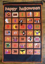 Pottery Barn Kids Halloween Orange Black Felt Countdown Calendar