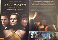 Promotional Flyer Aftermath Keira Knightly, Alexander Starsgard *NOT A DVD*