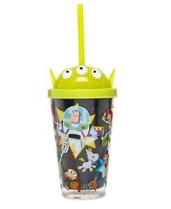Disney Toy Story LIGHT UP Straw Tumbler Cup Home Cinema Fun Drink Buzz Lightyear