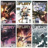 (Nick) FURY #1-6 Full Run Complete Series Marvel Max Comics 2001 Garth Ennis